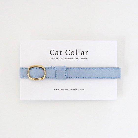 猫の首輪/やわらかサテン【フレンチブルー】