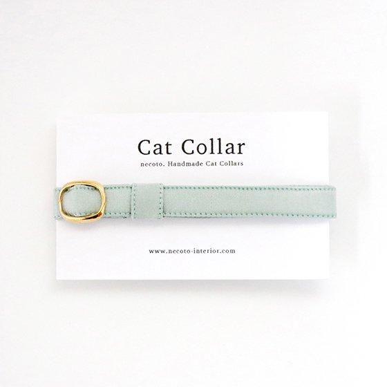 猫の首輪/やわらかサテン【ミントグリーン】