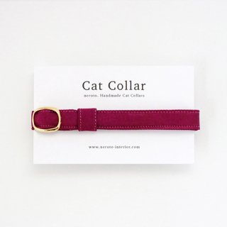 猫の首輪/やわらかサテン【ベリー】