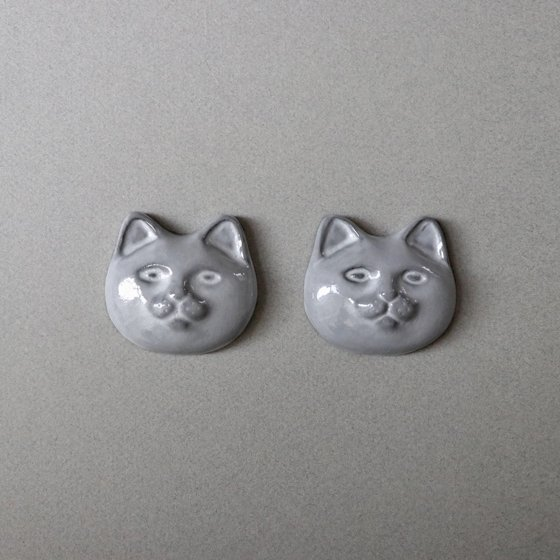 necoto THz ceramic plate【cat face / GRY】