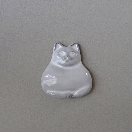 necoto THz ceramic plate【catloaf / WHT】