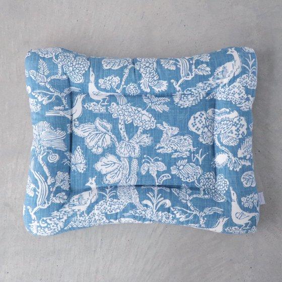 【受注製作】猫用ベッド/USコットン<森のともだち/ブルー>