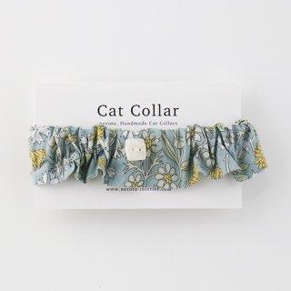 猫のおはげ予防首輪/フリルタイプ【Liberty London-Maude GR】<長さ調整つき>