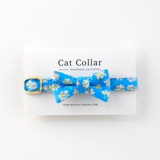 猫の首輪/やわらかコットン【リボン付き/Liberty London-Bellis】
