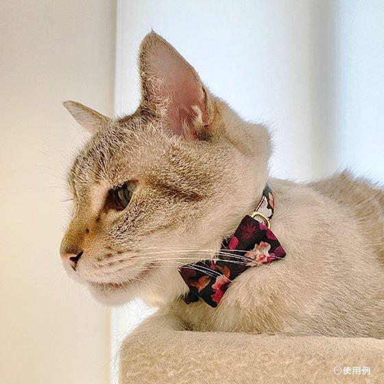<img class='new_mark_img1' src='https://img.shop-pro.jp/img/new/icons57.gif' style='border:none;display:inline;margin:0px;padding:0px;width:auto;' />猫の首輪/やわらかコットン【リボン付き/Liberty Nancy-Animal】