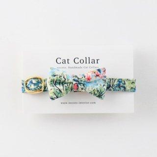 猫の首輪/やわらかコットン【リボン付き/Liberty Glencot-House】