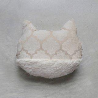 キティクッション/ジャガード織 ベージュ系ベルベット+ボア