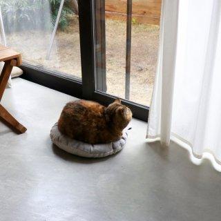 OZABUクッション-Lサイズ【リネン/キャンバスグレー】 /For Cat