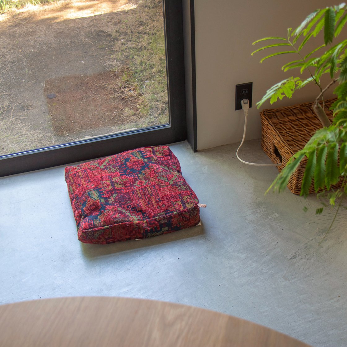 キリムのベッドカバー No.RED001