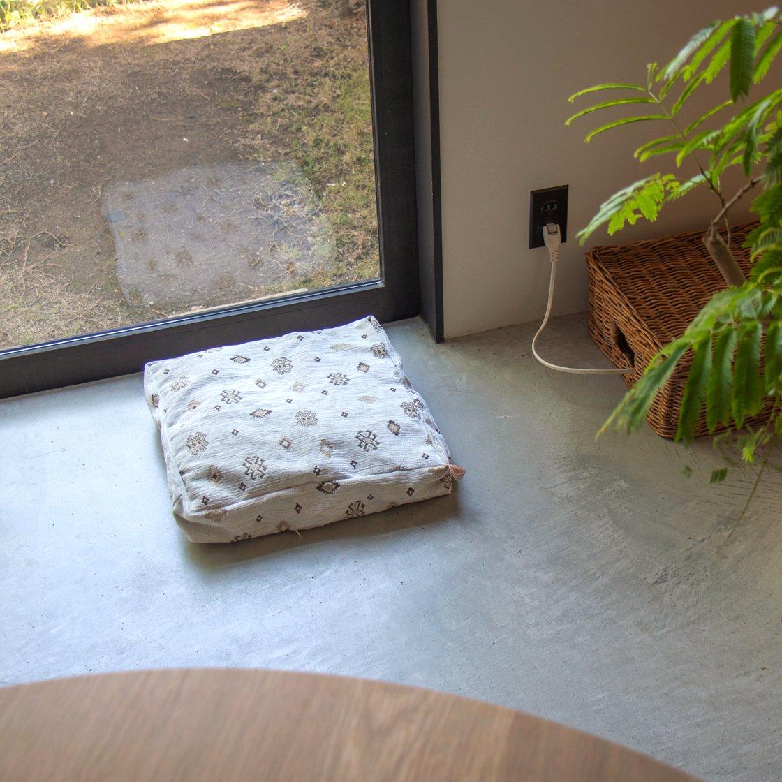 キリムのベッドカバー No.WHT001