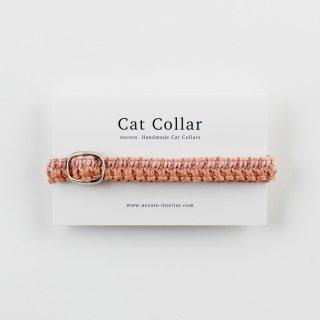 猫の首輪/ヘンプ編み【もも】