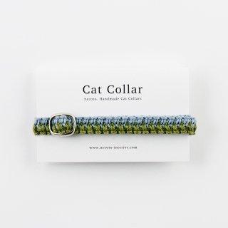 猫の首輪/ヘンプ編み【あじさい】