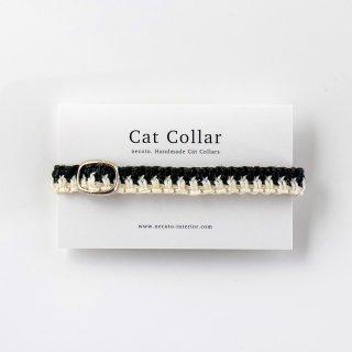 猫の首輪/ヘンプ編み【ピアノ】