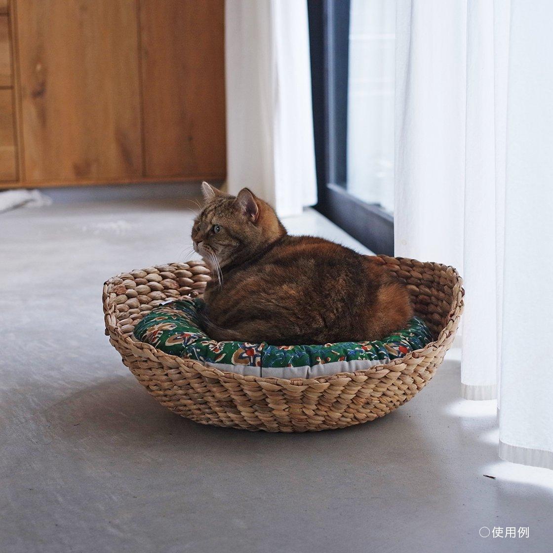 <img class='new_mark_img1' src='https://img.shop-pro.jp/img/new/icons57.gif' style='border:none;display:inline;margin:0px;padding:0px;width:auto;' />OZABUクッション-Lサイズ【ハンドブロック/グレー系 #2】 /For Cat