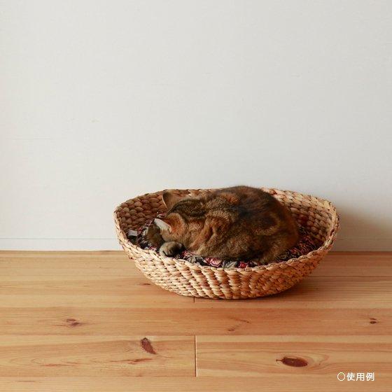 <img class='new_mark_img1' src='https://img.shop-pro.jp/img/new/icons57.gif' style='border:none;display:inline;margin:0px;padding:0px;width:auto;' />OZABUクッション-Lサイズ【ハンドブロック/ブラウン系 #2】 /For Cat