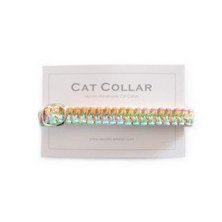 猫の首輪/ヘンプ編み【パステルグラデーション】