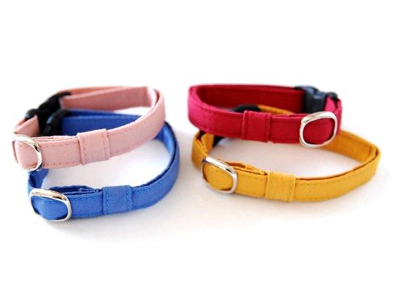 猫の首輪/やわらかコットン【ローズピンク】