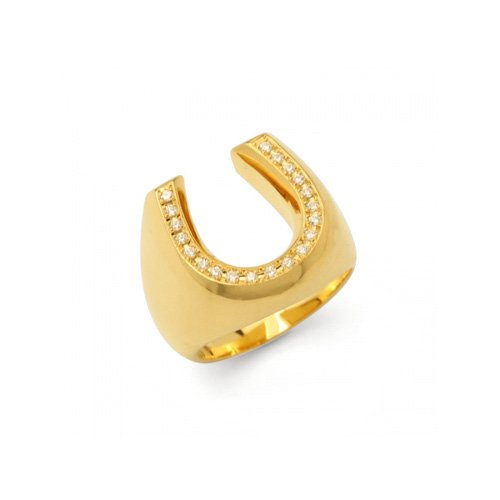 HORSESHOE LINE STONE PINKY RING(K18GD DIA)<img class='new_mark_img2' src='//img.shop-pro.jp/img/new/icons47.gif' style='border:none;display:inline;margin:0px;padding:0px;width:auto;' />