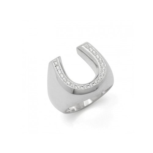 HORSESHOE LINE STONE PINKY RING(SV DIA)<img class='new_mark_img2' src='//img.shop-pro.jp/img/new/icons47.gif' style='border:none;display:inline;margin:0px;padding:0px;width:auto;' />