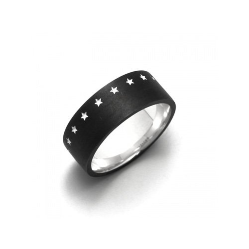 THIRTEEN STAR RING(MATTE BK SV)