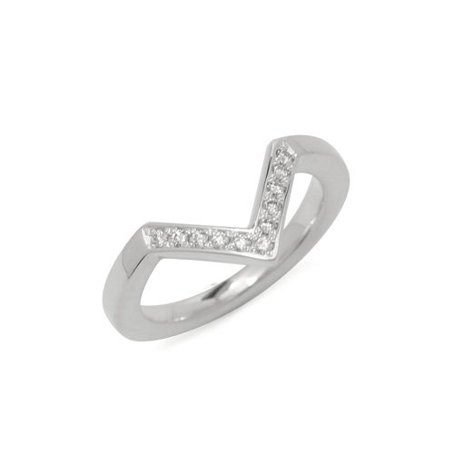 V RING with DIAMOND SV/DIA<img class='new_mark_img2' src='https://img.shop-pro.jp/img/new/icons5.gif' style='border:none;display:inline;margin:0px;padding:0px;width:auto;' />