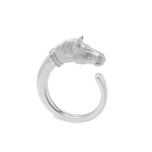 HORSE JEWEL RING SV/DIA<img class='new_mark_img2' src='https://img.shop-pro.jp/img/new/icons5.gif' style='border:none;display:inline;margin:0px;padding:0px;width:auto;' />