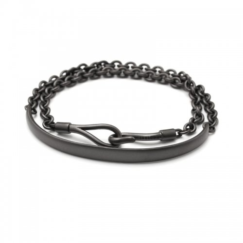 ARCH&HOOK ROLL CHAIN BRACELET(MATTEBK)<img class='new_mark_img2' src='//img.shop-pro.jp/img/new/icons47.gif' style='border:none;display:inline;margin:0px;padding:0px;width:auto;' />