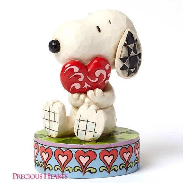 """ピーナッツ by ジム・ショア スヌーピー フィギュア """"Snoopy Holding Heart"""""""