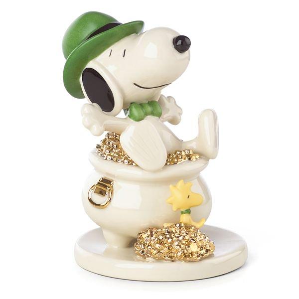 レノックス Lenox ピーナッツ スヌーピー ラッキーーフィギュアLucky Leprechaun SNOOPY™ Figurine by Len…