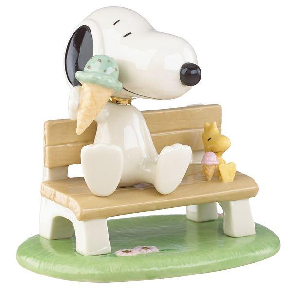 レノックス Lenox ピーナッツ アイスクリームとスヌーピー フィギュアHappiness is Ice Cream with Snoopy™ Figurine by Len…