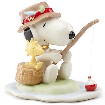 レノックス Lenox ピーナッツ スヌーピー フィッシング・バディ フィギュアPEANUTS® Fishing Buddies Figurine by Len…