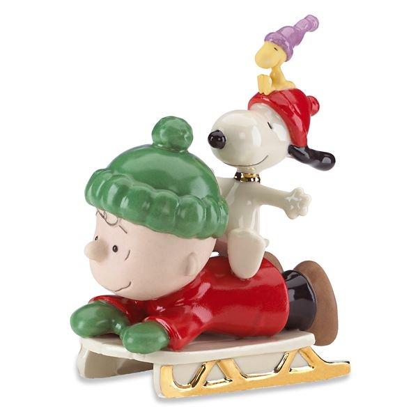 レノックス ピーナッツ チャーリーブラウン&スヌーピー そりの冒険 フィギュア SNOOPY™'s Sledding Adventure Figurine by Len…