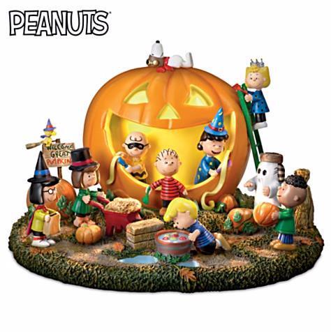 ピーナッツ パンプキンスカルプチャーGreat Pumpkin Carving Party Sculpture