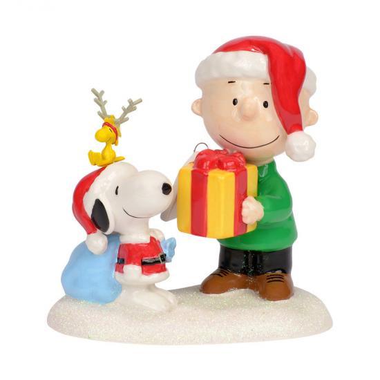 チャーリーブラウンとスヌーピー フィギュア This Gift's For You