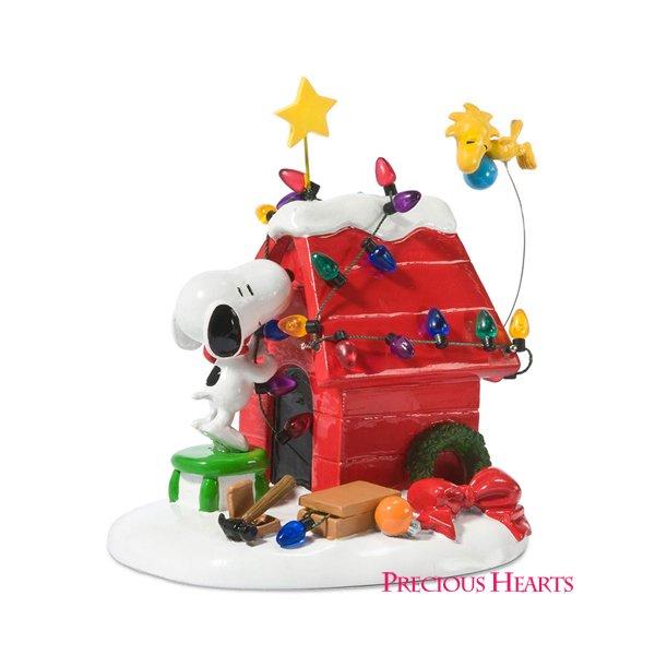 スヌーピー クリスマス フィギュア Getting Ready for Christmas