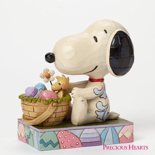 """ピーナッツ by ジム・ショア スヌーピー&ウッドストック フィギュア """"Hooray for the Easter Beagle&quo…"""