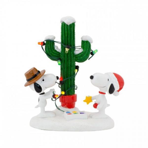 スパイクとスヌーピー ライトアップ フィギュア Spike and Snoopy's Christmas
