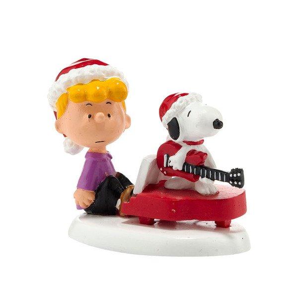 シュローダーとスヌーピー フィギュア Schroeder & Snoopy's Christmas
