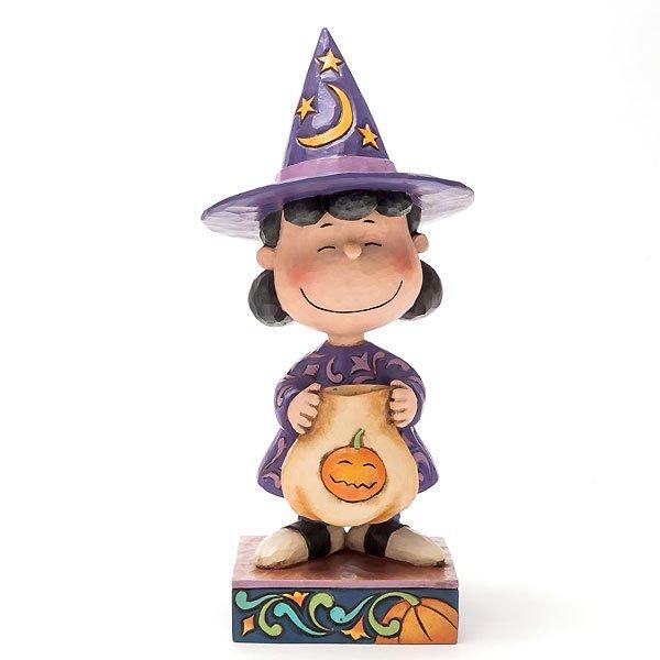 """ピーナッツ by ジム・ショア トリック・オア・トリート ルーシー フィギュア """"Trick or Treat-Lucy in Witch Costume Figurine&quo…"""
