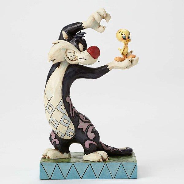 """ジム・ショア ルーニー・テューンズ シルベスター フィギュア """"I Thought I Saw a Puddy Tat-Sylvester and Tweety Figurine&quo…"""