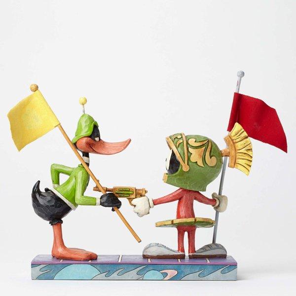 """ジム・ショア ルーニー・テューンズ マービン&ダック フィギュア """"I Claim This Planet-Marvin the Martian and Duck Dodgers Figur"""