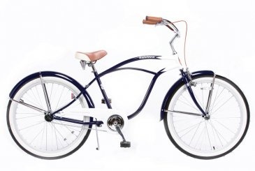 RAINBOW BEACH CRUISER 26″(NAVY/WHITE)