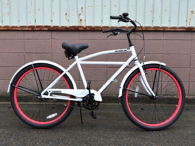 ビーチクルーザー west coast white 送料無料 おしゃれ自転車なら