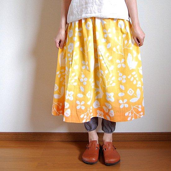 1点限り フレアスカート つばめデザイン図案店柄