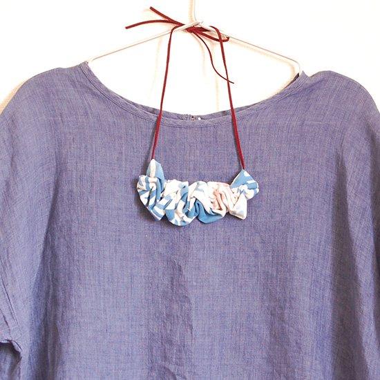 てぬぐいネックレス オルカ柄 紐:バイオレット