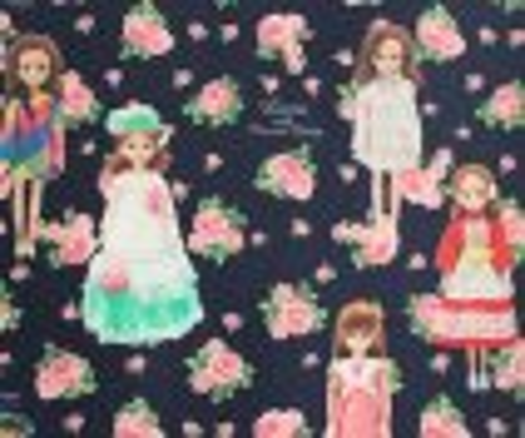 Licca in rose garden series -リカちゃん ネイビーローズ CLOTH-
