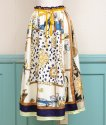 【YELLOW】REMAKE SCARF LONG SKIRT with RIBBON( リメイク スカーフロングスカート)<img class='new_mark_img2' src='https://img.shop-pro.jp/img/new/icons8.gif' style='border:none;display:inline;margin:0px;padding:0px;width:auto;' />