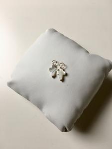 Mini Cross Hoop Pierce/Earrings Top