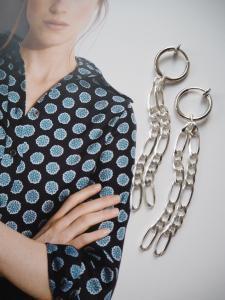 Harmony Silver Chain Earrings