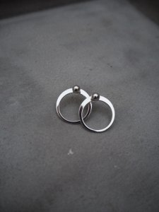 Silver Circle Pierce/10KWG